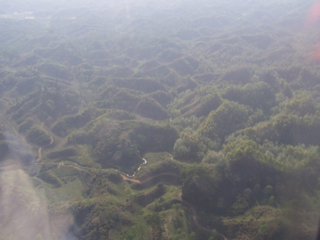 Sylhet from Airplane