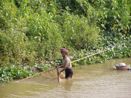 Fisherman hard at work , Sylhet